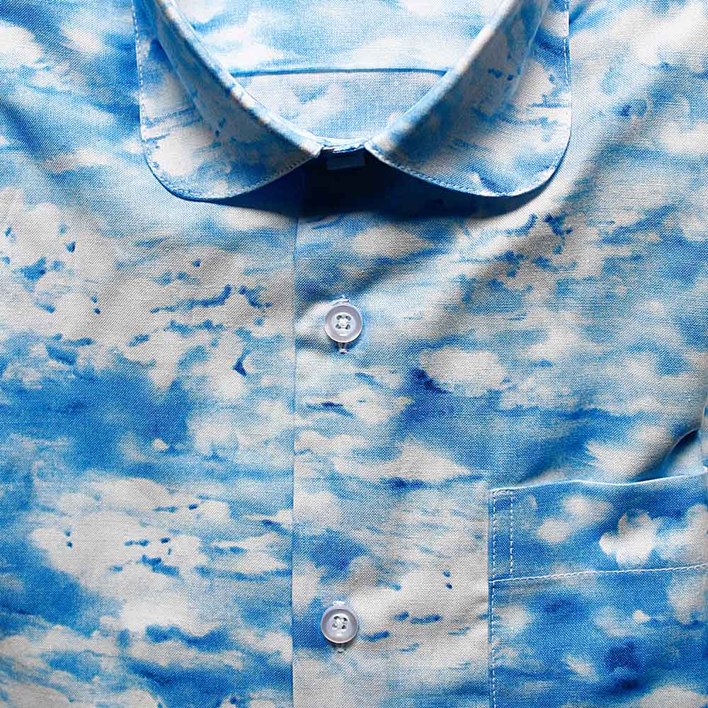 Men shirt with clouds