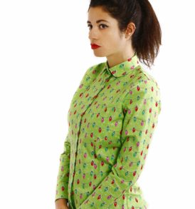 Women shirt with holiday lights
