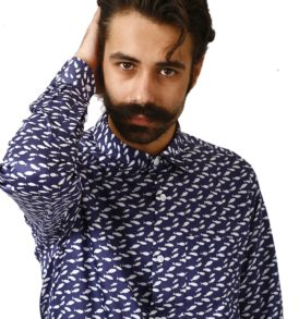 Men shirt with fishes