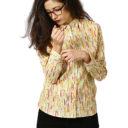 Women shirt with colour pencils