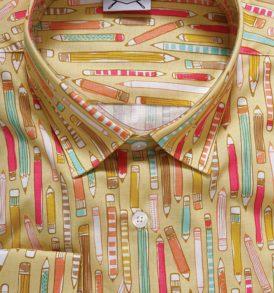 Дамска риза с десен на цветни моливи
