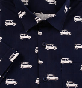 Men shirt with jeeps & surfs