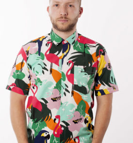 Men shirt with jungle pattern