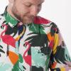 Men shirt with jungle pattern