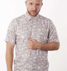 Men shirt with dogs