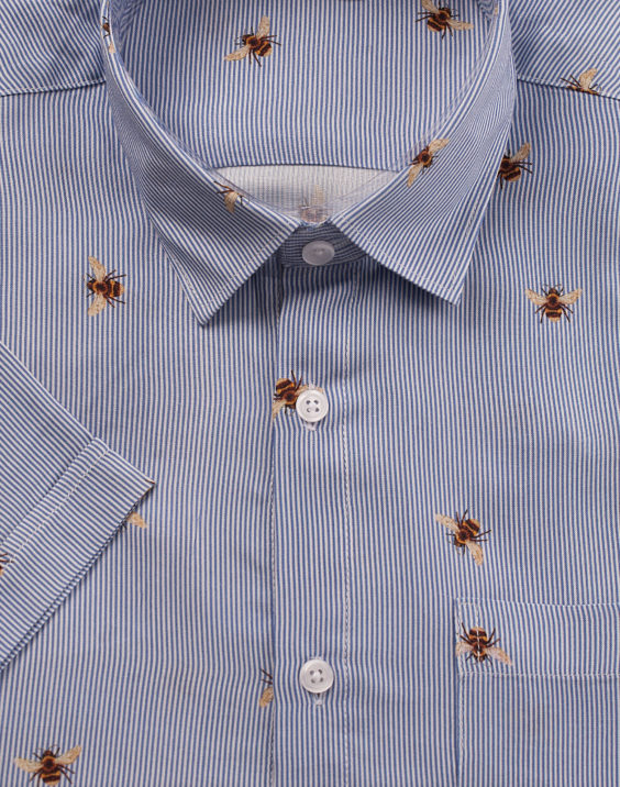 Men shirt with bees