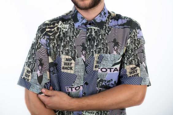 Men shirt with 90's pattern