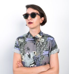 Women shirt with 90's pattern