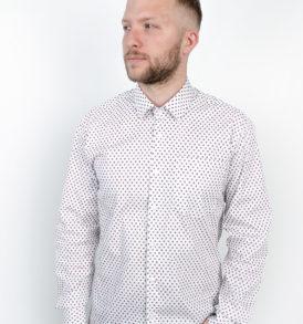 Men shirt with ladybugs pattern