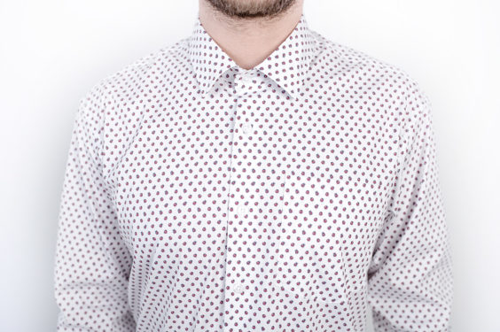 Men shirt with ladybugs pattern